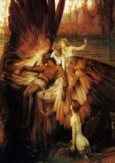Draper, Herbert James: The Lament for Icarus. Fine Art Print/Poster. Sizes: A4/A3/A2/A1 (00464)